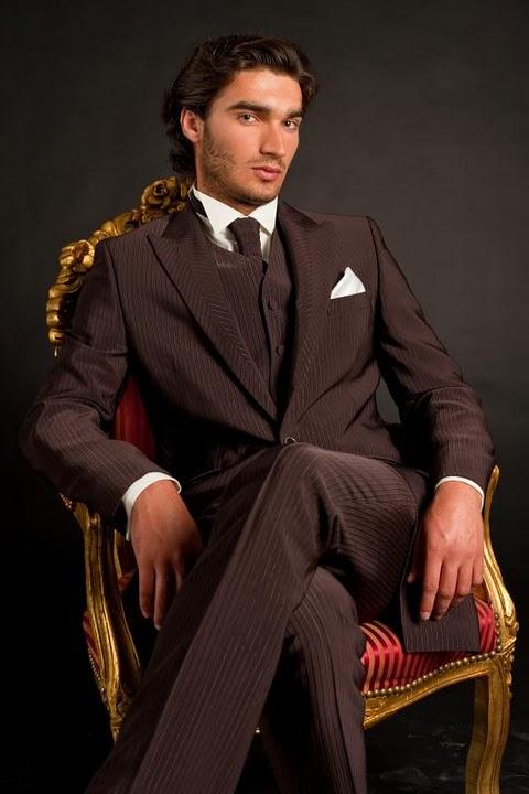 costume homme badgio marron car interior design. Black Bedroom Furniture Sets. Home Design Ideas